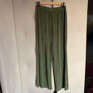 Vintage green comfy wide leg pants